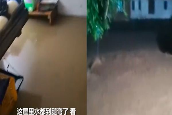 浙江诸暨市遇最强降雨 洪水致2死2失踪