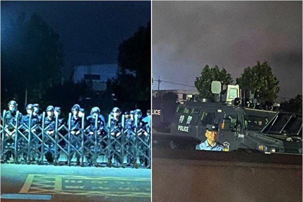 江浙爆大规模学潮后 警察续驻守校园