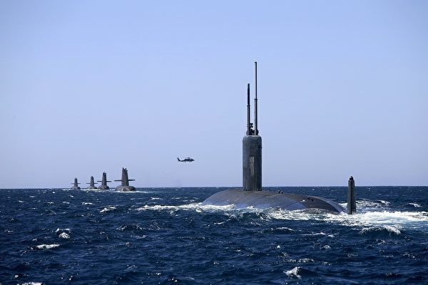 美军的洛杉矶级攻击型潜艇。美军的各型潜艇均为核动力。(美国海军)