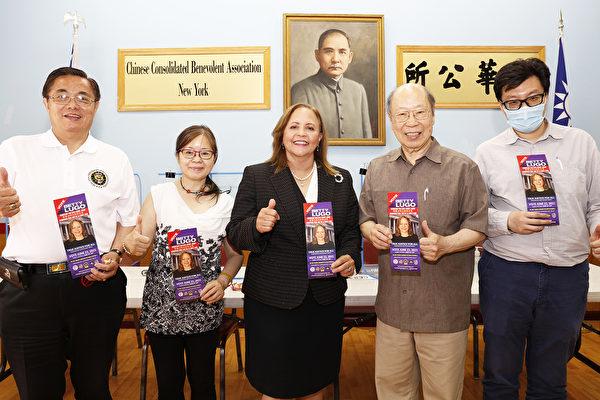 曼哈頓民事法庭法官候選人魯戈訪中華公所