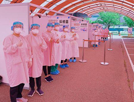 联新国际医院为企业客制化防疫快筛。