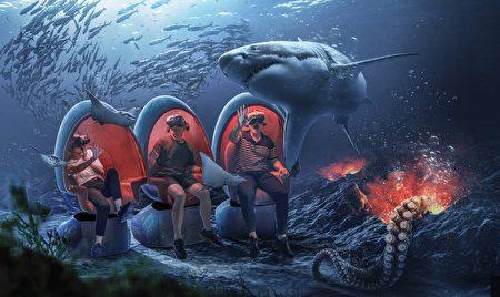 """""""潮境智能海洋馆""""实境海底体验。"""