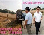 江苏农民抗议政府克扣惠农补助 小麦被抢收