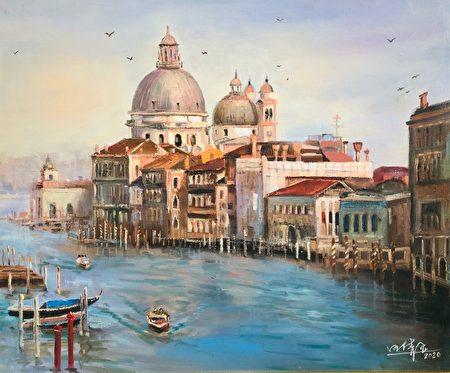 風景畫:美麗的威尼斯。