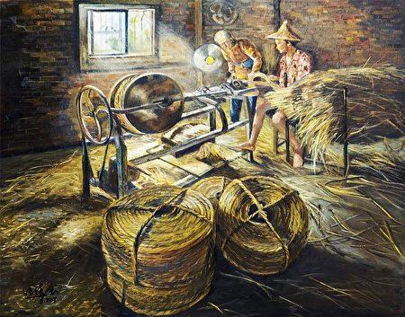 串聯歲月的輪轉,傳統草繩技藝。