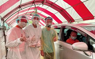 下雨长者不便   医护直接车上打疫苗