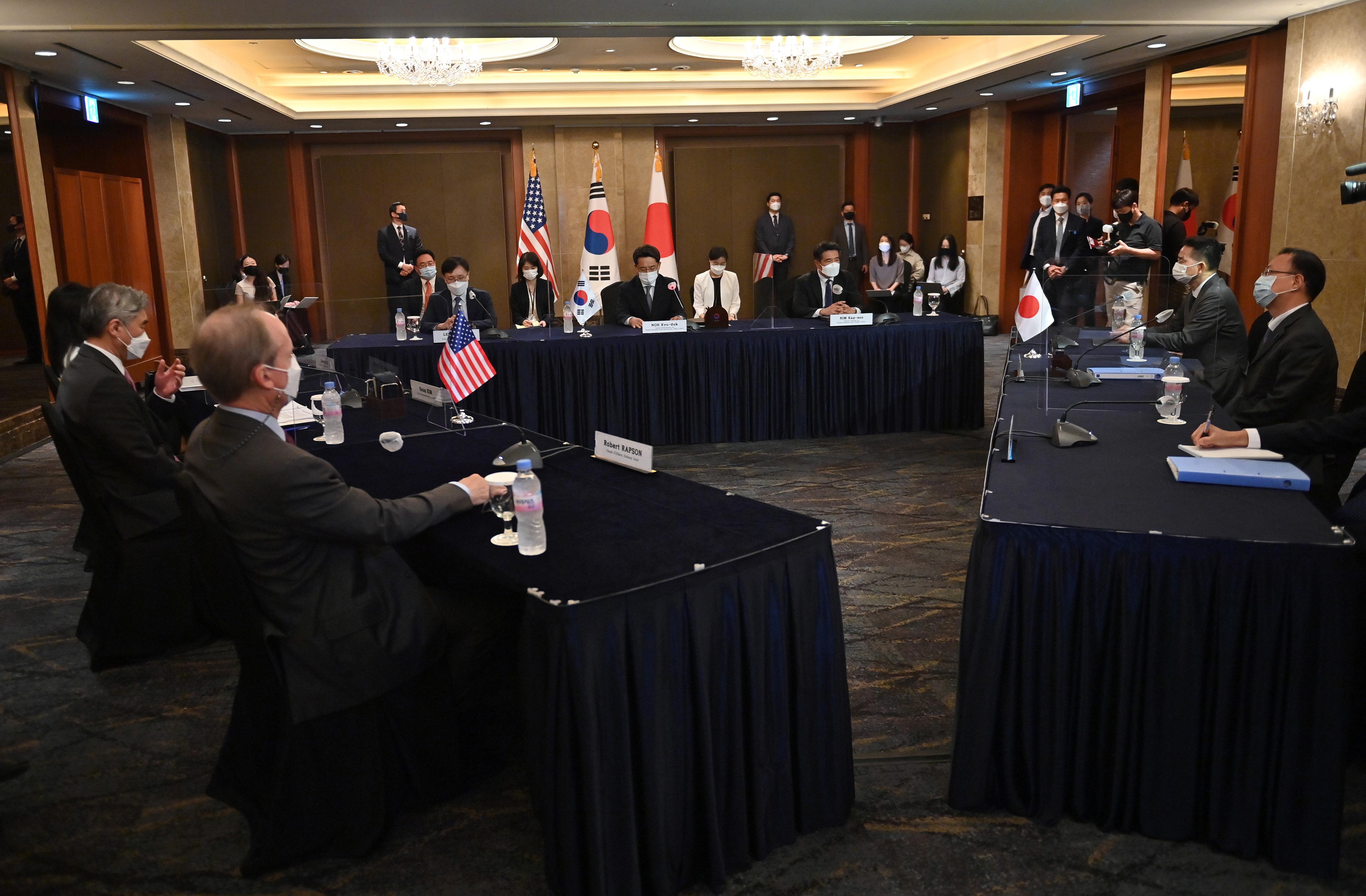 美韓日三方會談 盼朝鮮積極回應對話
