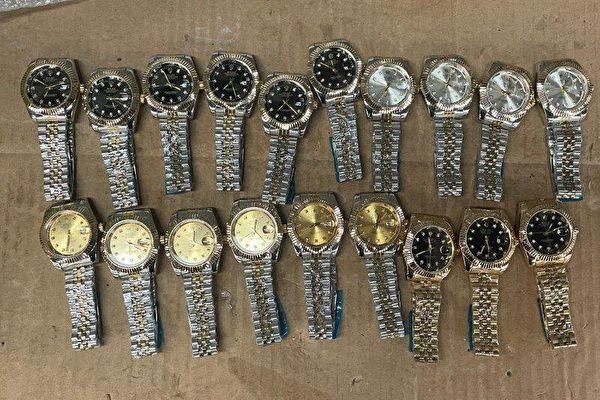 纽约JFK海关查获28万美元假劳力士手表
