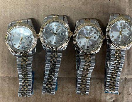 JFK海关6月15日查获的假劳力士手表。