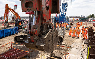组图:英国高铁二号线最大车站开始建设