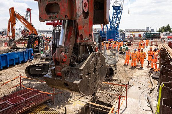 組圖:英國高鐵二號線最大車站開始建設