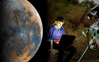 印度少年用5萬多照片創作不可思議月球圖