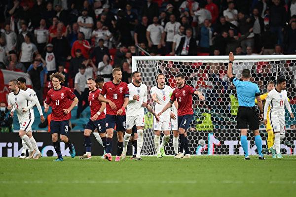 組圖:歐洲盃足球D組 捷克0:1不敵英格蘭