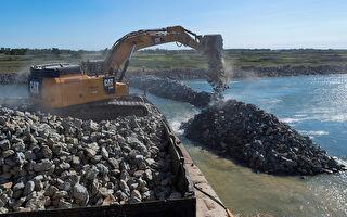爲保護加州淡水資源 三角洲附近築岩牆
