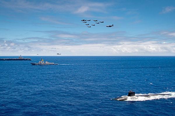 組圖:美軍頻示潛艇 海狼級現身 意在沛公