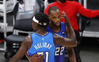 NBA米道顿决胜节20分 雄鹿客场射鹰
