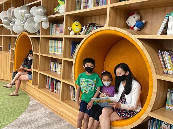 尔湾中文学校启用儿童图书馆