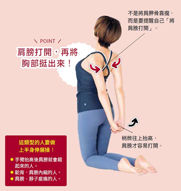 胸部的伸展操。(采实文化提供)