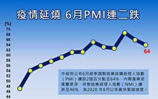 6月PMI連二跌至64.0% NMI創逾一年低點