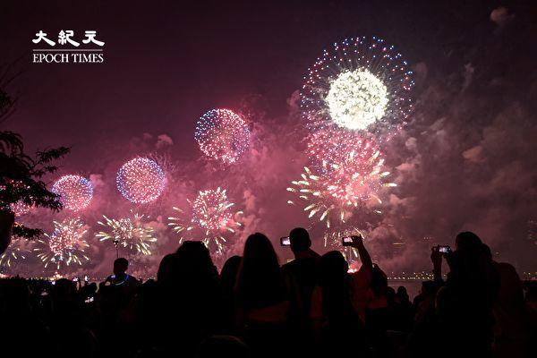 組圖:紐約獨立日煙花秀 盛況空前
