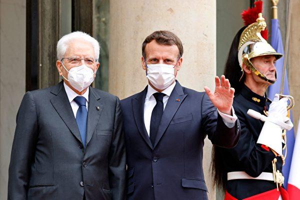 組圖:意大利總統訪問法國 推動加強合作