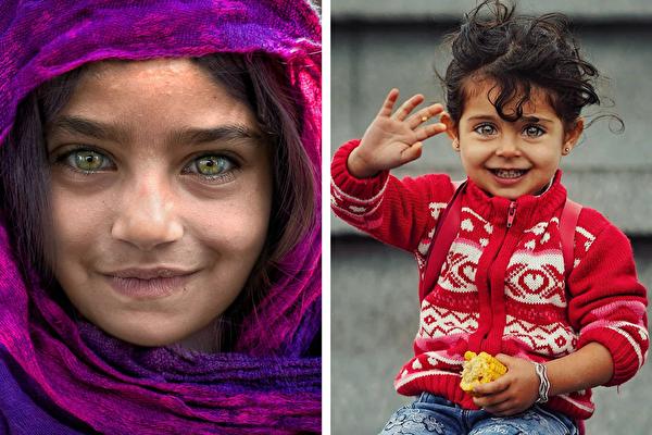 組圖:寶石般美麗 窮孩子的雙眸仍透著純真