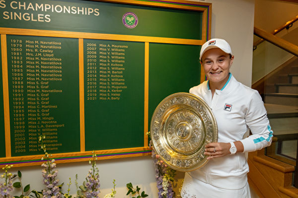 巴蒂登頂 澳洲人41年後再奪溫網女單冠軍