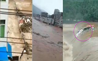 洪水达两层楼 四川巴中百余镇21万人受灾