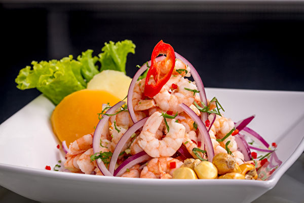 Peruvian,Shrimp,Ceviche,Is,A,Traditional,Dish.,It,Is,Different,蝦沙拉