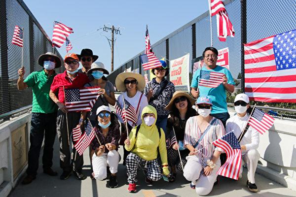 湾区民众集会 吁加州居民参与罢免纽森投票