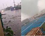 山東聊城莘縣遭遇龍捲風 車被掀翻房被吹破