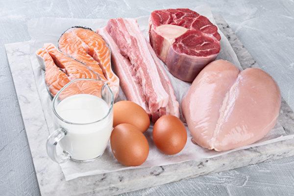 在抗癌饮食中,蛋白质建议摄取量为每公斤体重1.2〜1.5克。(Shutterstock)