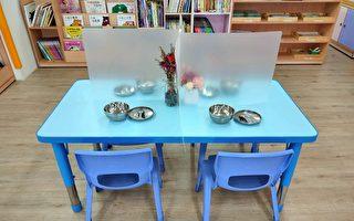 防疫物資 苗縣提供幼兒園防疫用餐隔板