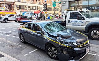 華埠車禍致一人重傷