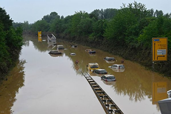 德国比利时罕见洪灾 至少157死逾千人失踪