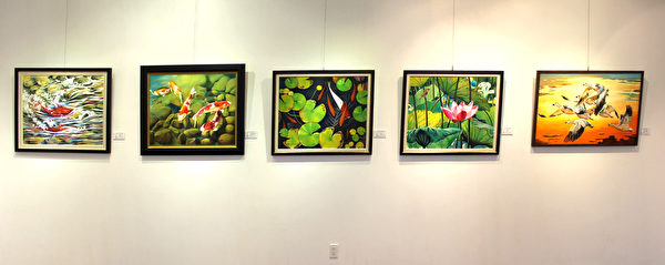 圖:《道法自然》廖武藏溫哥華個展在台灣文化中心展出,為期一月。(畫家廖武藏提供)