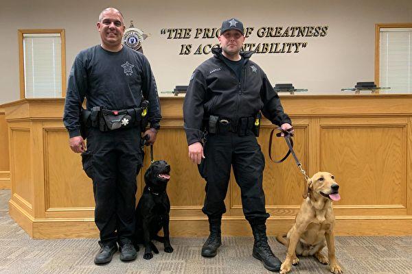 全美第一 麻州Bristol用警犬探查中共病毒