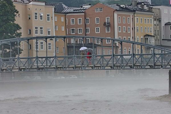 組圖:奧地利暴雨成災 多個地區成水鄉澤國