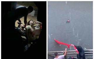河南郑州大雨持续 灾民被困不见官方救援