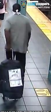 警方公布的嫌疑人監控圖像。