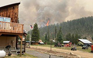 天堂鎮東北部迪克西大火 擴散迅猛 形成火積雲