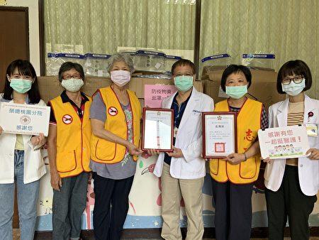 北荣桃园分院志工捐赠防护面罩900个,帮第一线医护人员加油。