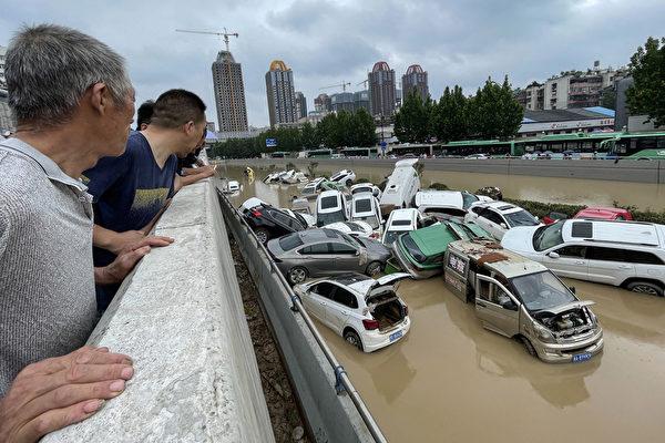 組圖:河南嚴重洪災 省會鄭州汪洋一片