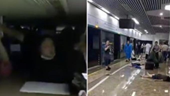鄭州乘客憶地鐵逃命:媽媽 我不行了
