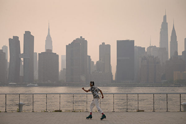 西岸雾霾罩纽约 纽约空气品质拉警报