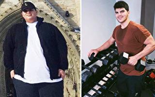 加拿大肥胖青年减掉二百多磅 成为健身教练