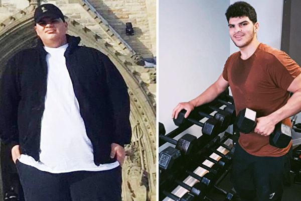 加拿大肥胖青年減掉二百多磅 成為健身教練