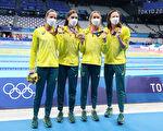 破女子4X100自由泳纪录 澳洲队夺奥运首金