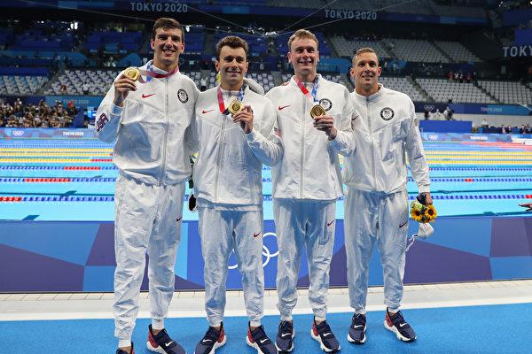組圖:東奧7.26 游泳項目金牌得主