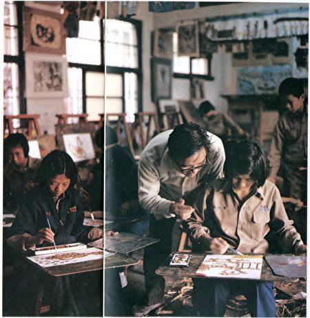 潘元石在台南启聪学校担任美术教师达25年。